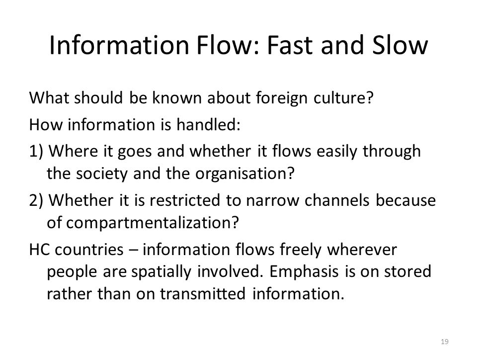Information Flow: Fast and Slow