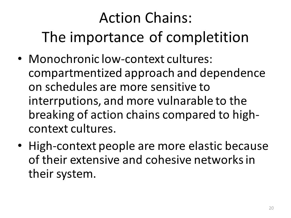 Action Chains: The importance of completition