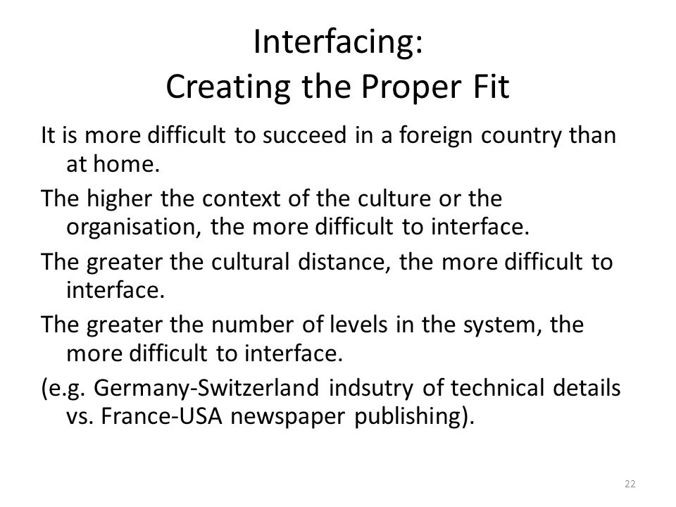 Interfacing: Creating the Proper Fit