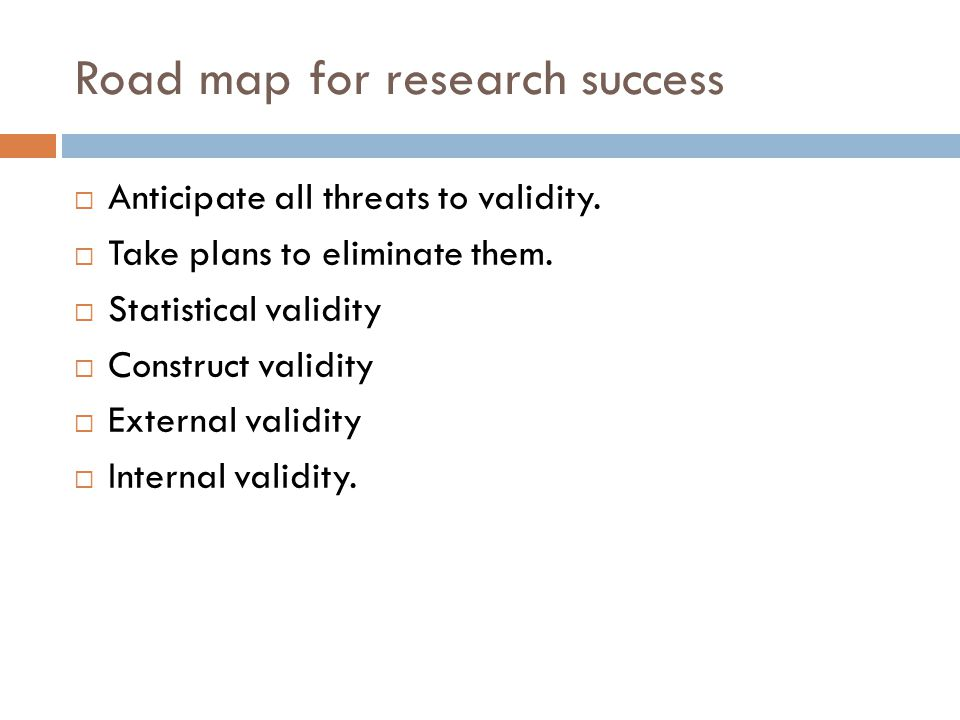 Road map for research success