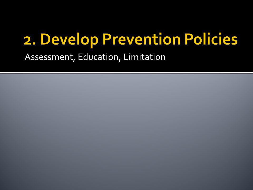 2. Develop Prevention Policies