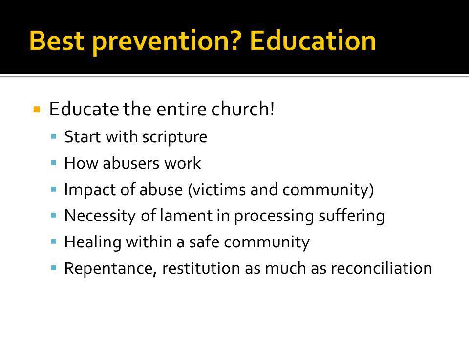 Best prevention Education
