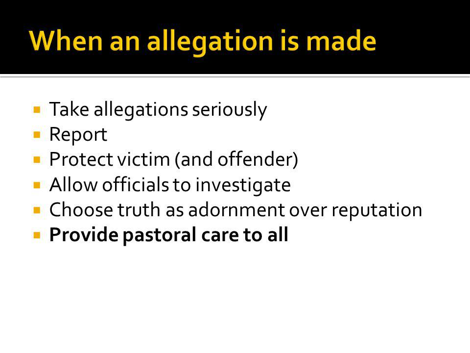 When an allegation is made