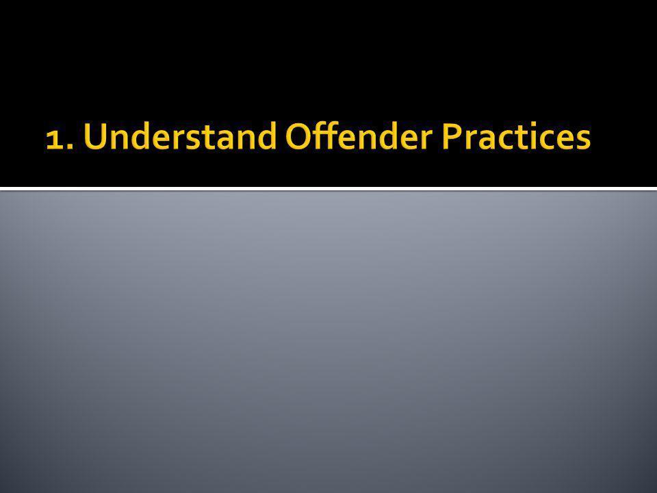 1. Understand Offender Practices