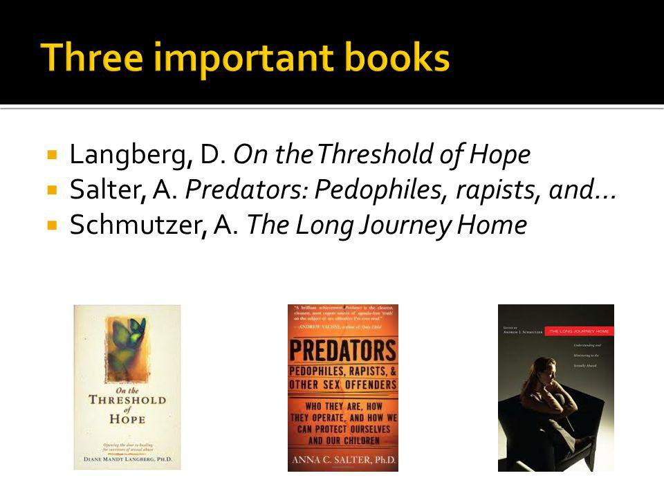 Three important books Langberg, D. On the Threshold of Hope