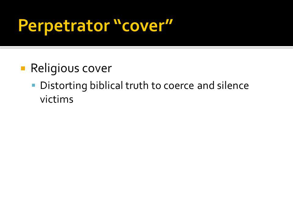 Perpetrator cover Religious cover
