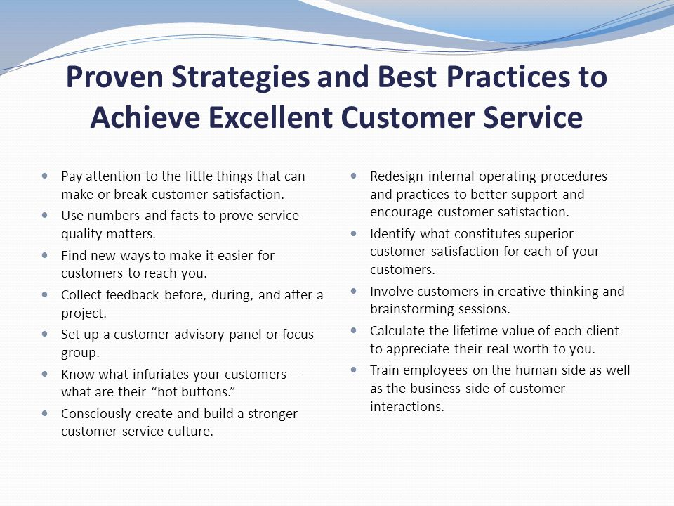 Proven Strategies and Best Practices to Achieve Excellent Customer Service