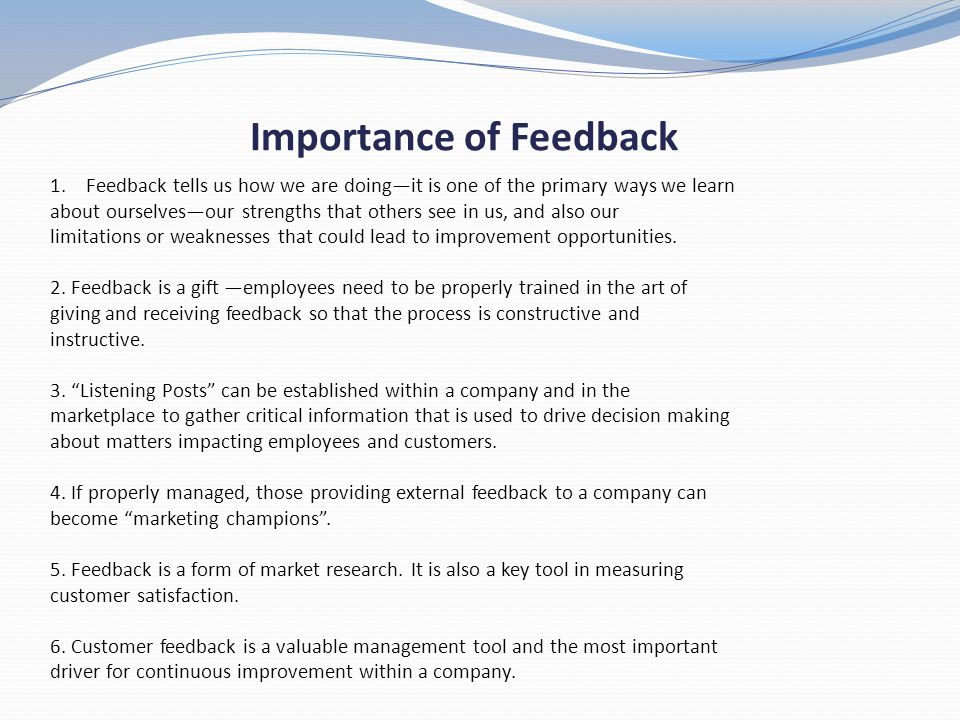importance of giving and receiving constructive feedback Giving and receiving constructive feedback  the importance of hearing what  isn't being said  giving honest feedback that doesn't hurt feelings.