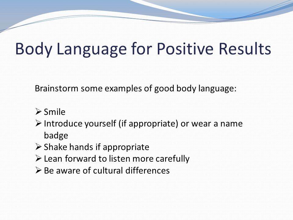 Body Language for Positive Results