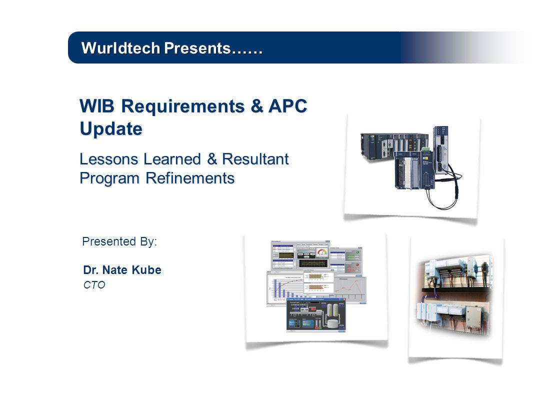 WIB Requirements & APC Update