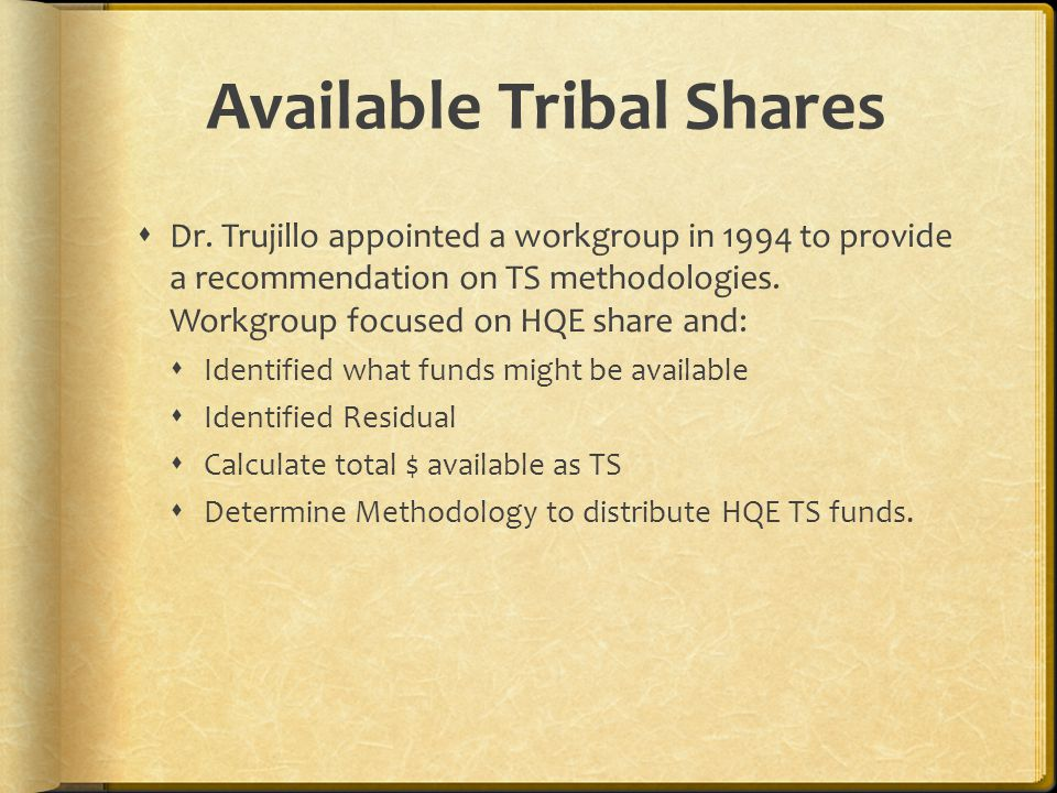 Available Tribal Shares