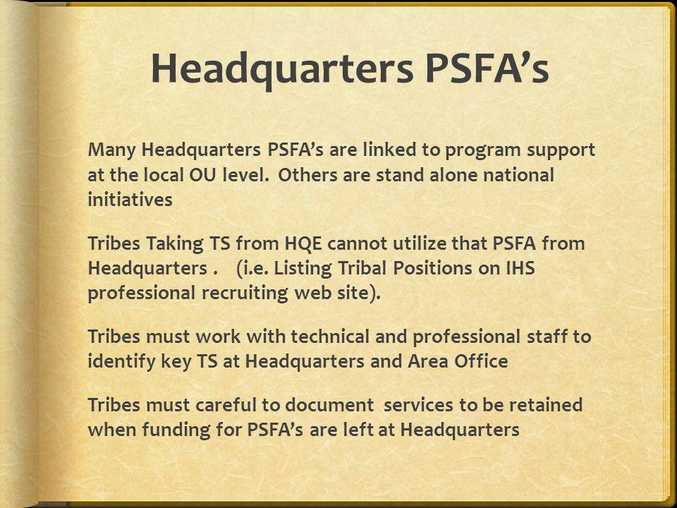 Headquarters PSFA's