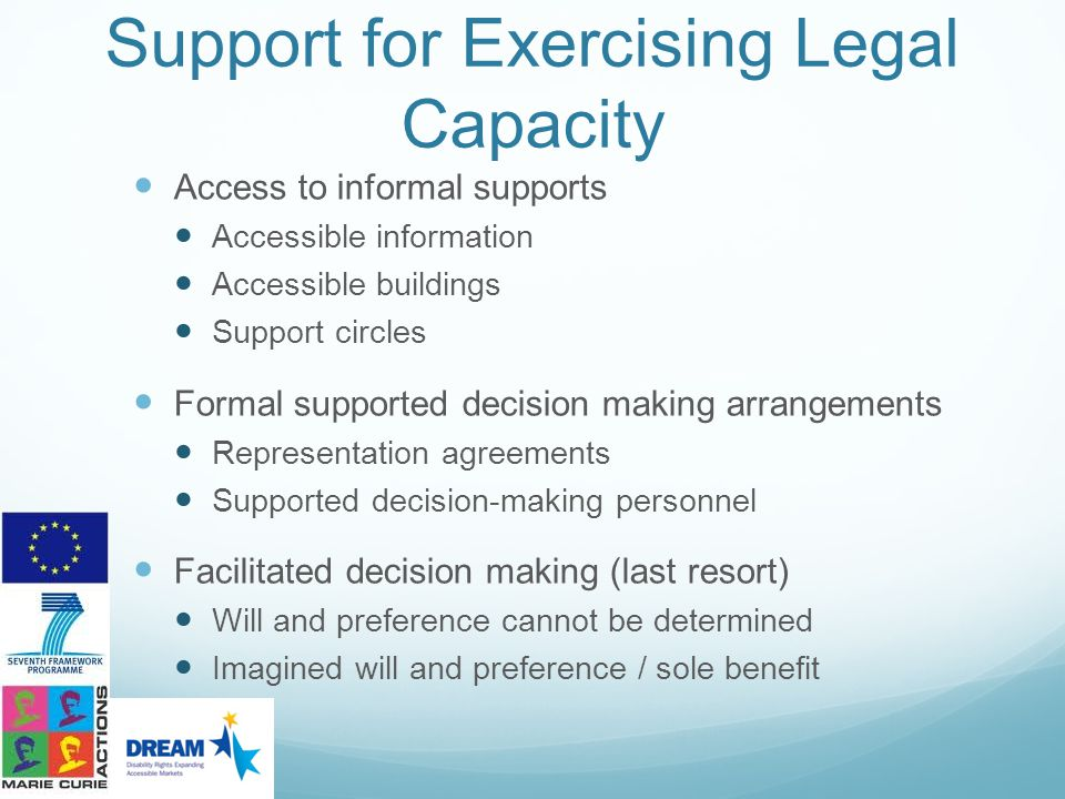 Support for Exercising Legal Capacity