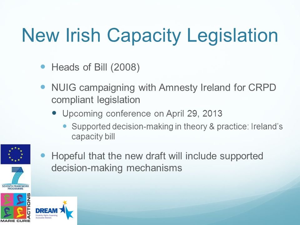 New Irish Capacity Legislation