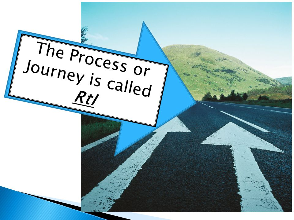 The Process or Journey is called RtI