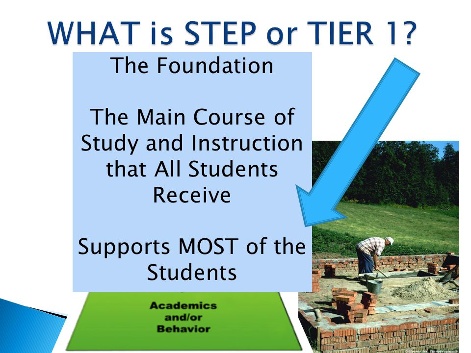 WHAT is STEP or TIER 1 The Foundation
