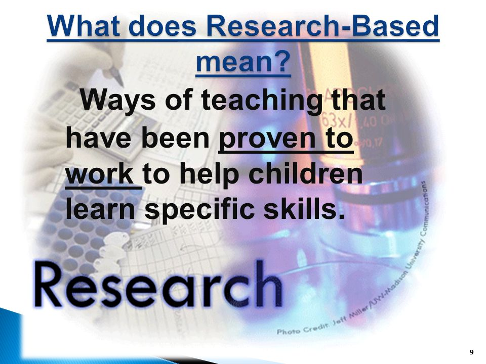 What does Research-Based mean
