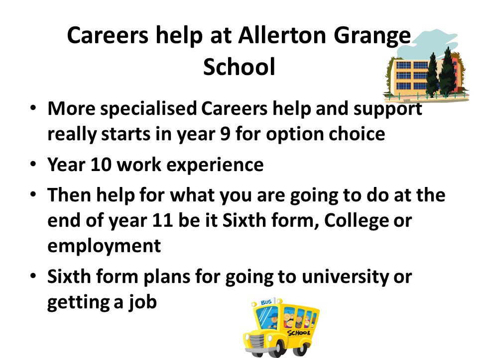Careers help at Allerton Grange School