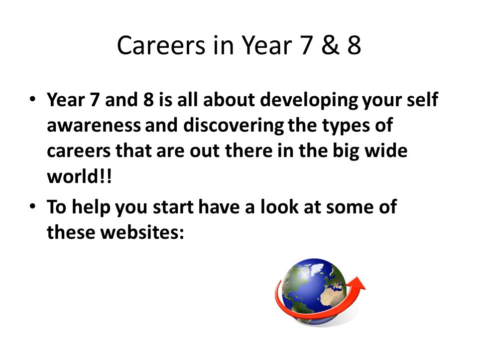 Careers in Year 7 & 8