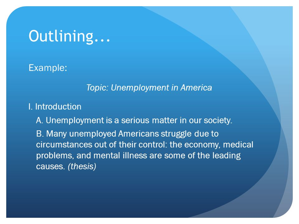 Topic: Unemployment in America