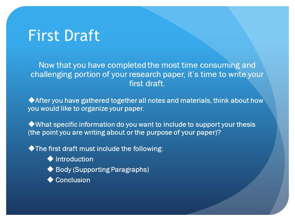 Buying a research paper draft tube