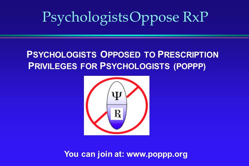 Psychologists Oppose RxP