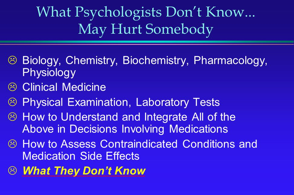What Psychologists Don't Know... May Hurt Somebody
