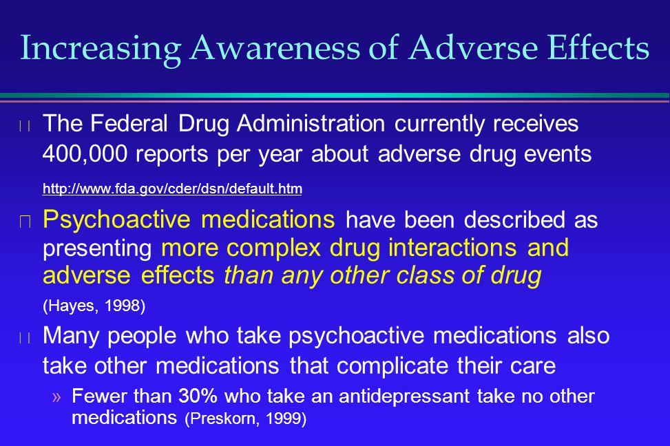 Increasing Awareness of Adverse Effects