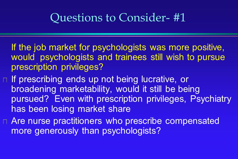 Questions to Consider- #1