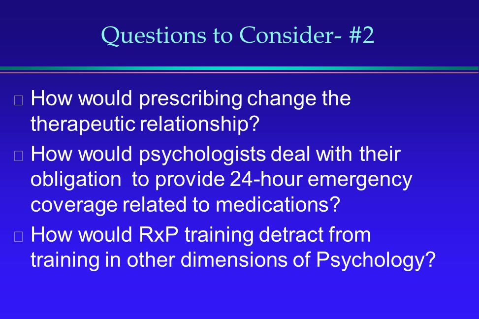Questions to Consider- #2