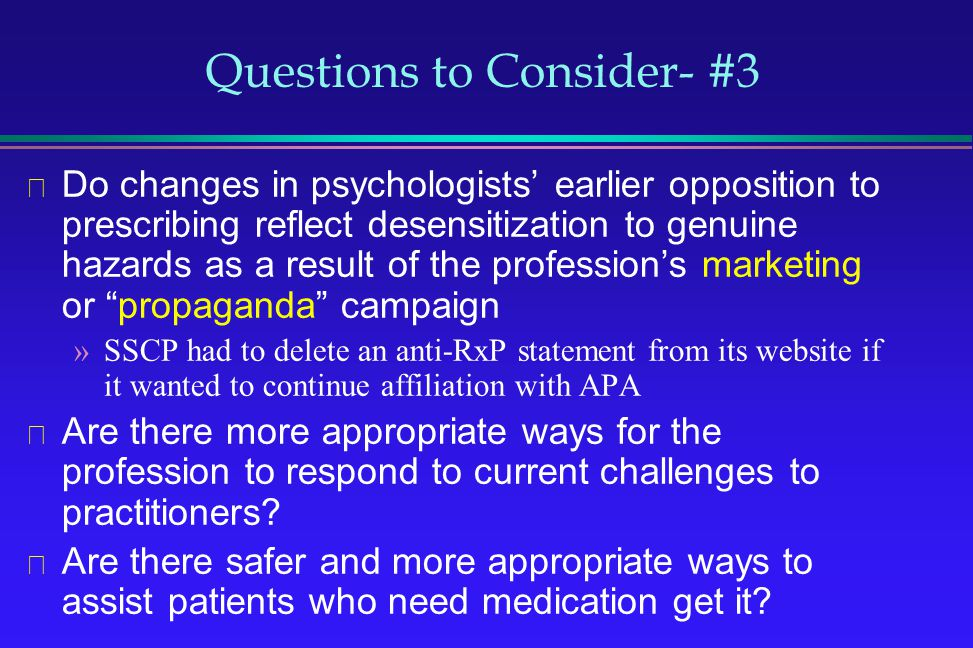 Questions to Consider- #3