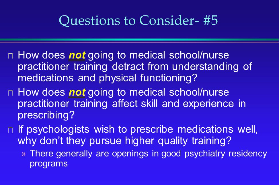 Questions to Consider- #5