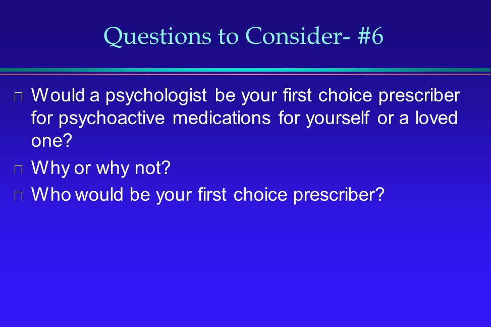 Questions to Consider- #6