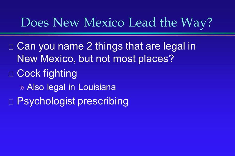 Does New Mexico Lead the Way