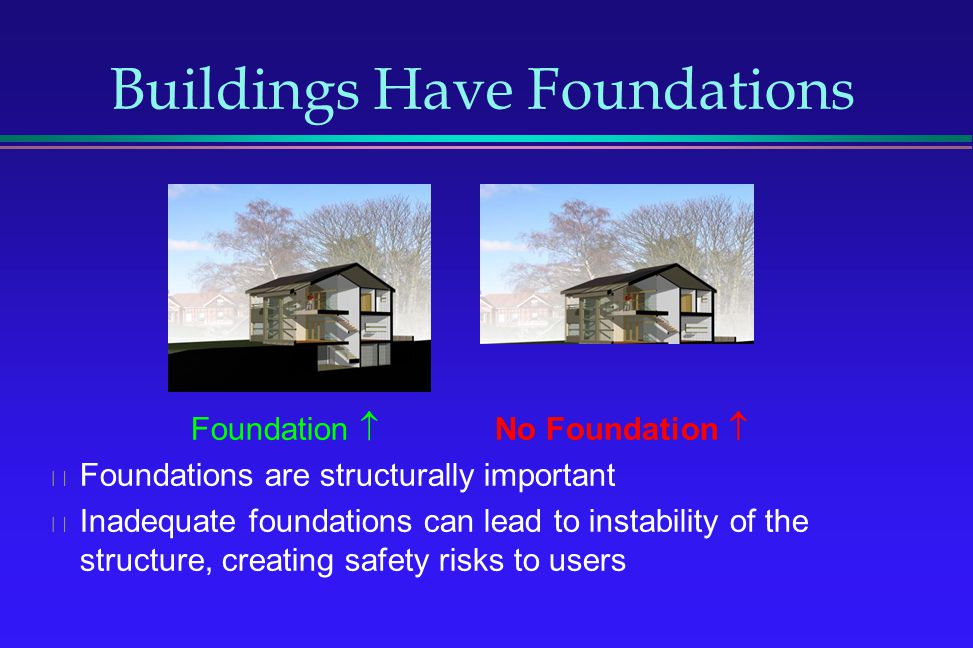 Buildings Have Foundations