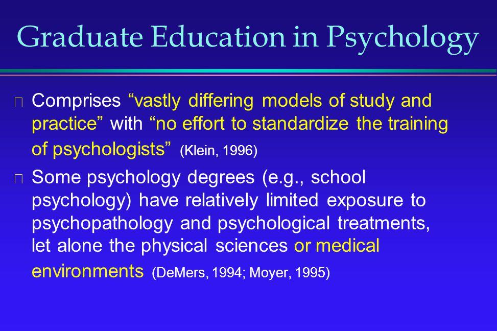 Graduate Education in Psychology