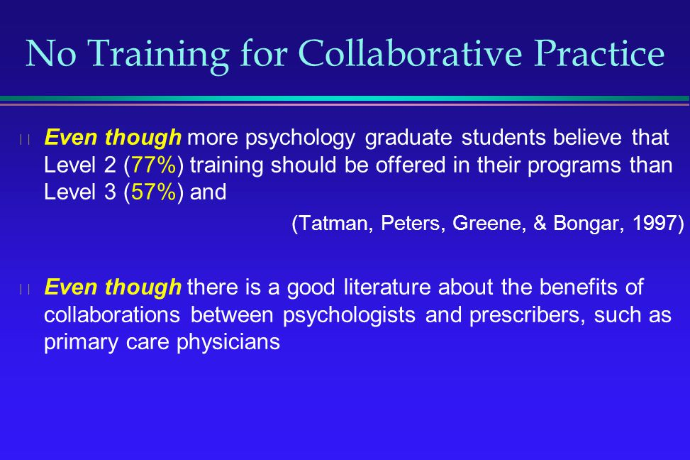 No Training for Collaborative Practice
