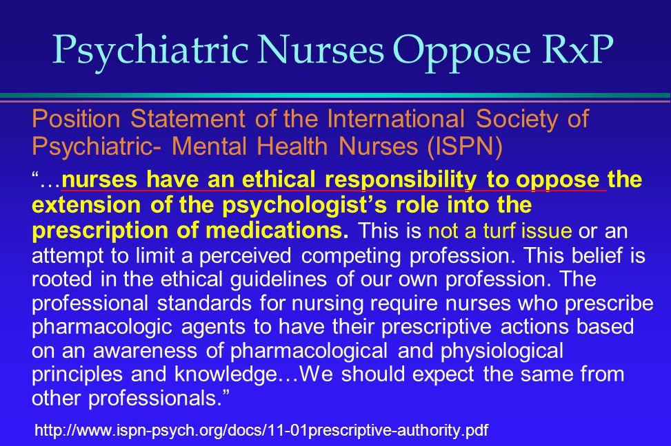 Psychiatric Nurses Oppose RxP