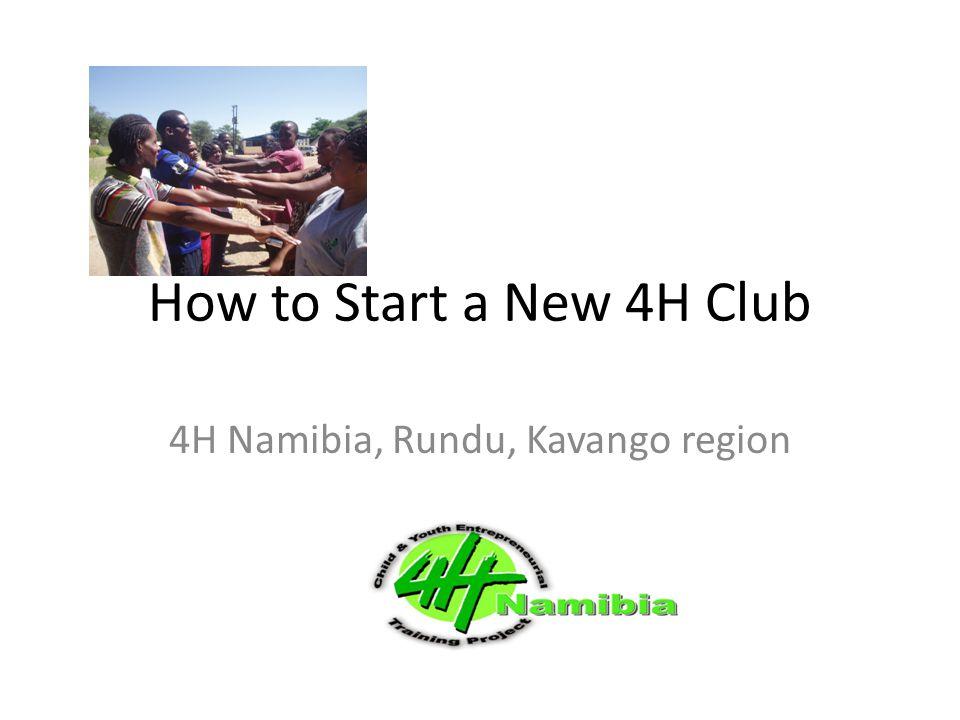 4H Namibia, Rundu, Kavango region