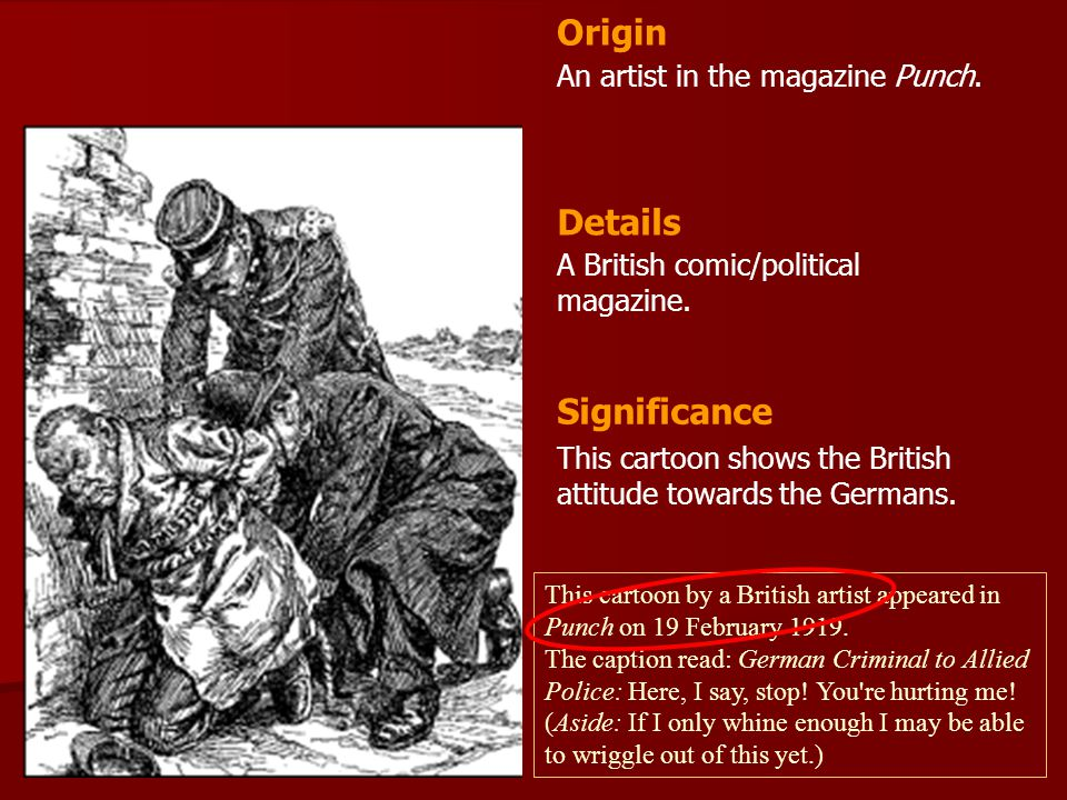 Origin Details Significance An artist in the magazine Punch.
