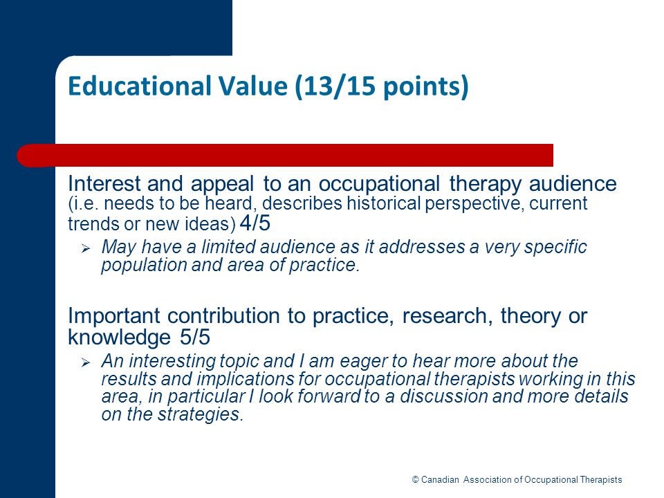 Educational Value (13/15 points)