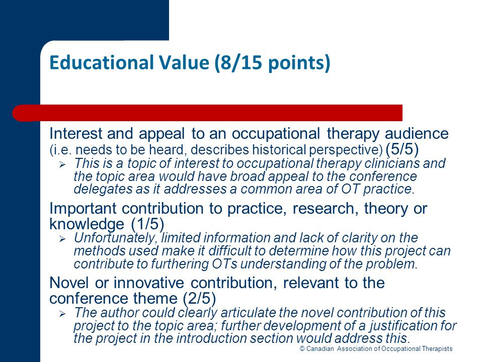 Educational Value (8/15 points)