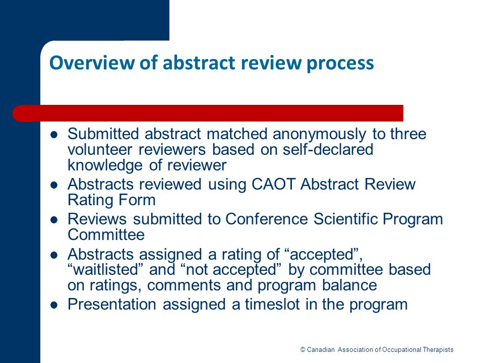 Overview of abstract review process