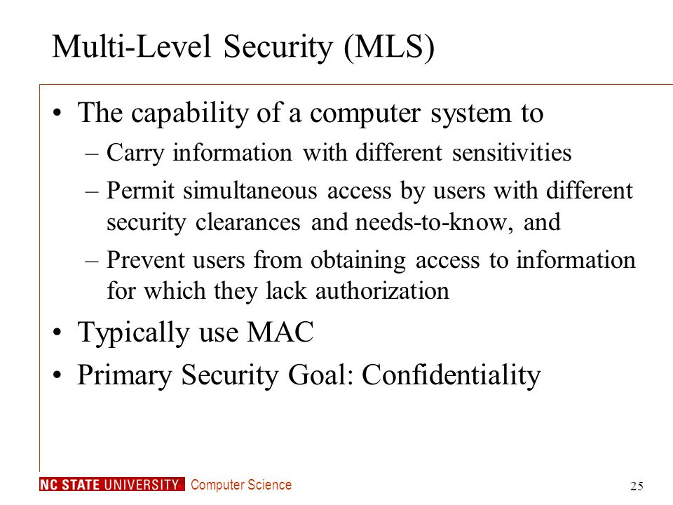 Multi-Level Security (MLS)