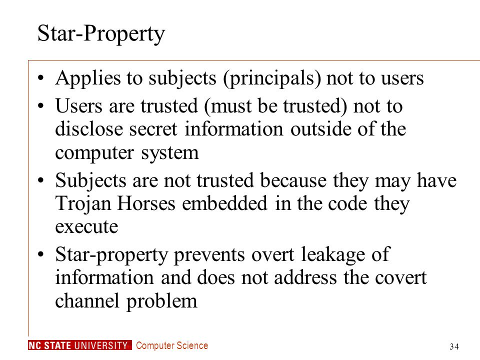 Star-Property Applies to subjects (principals) not to users