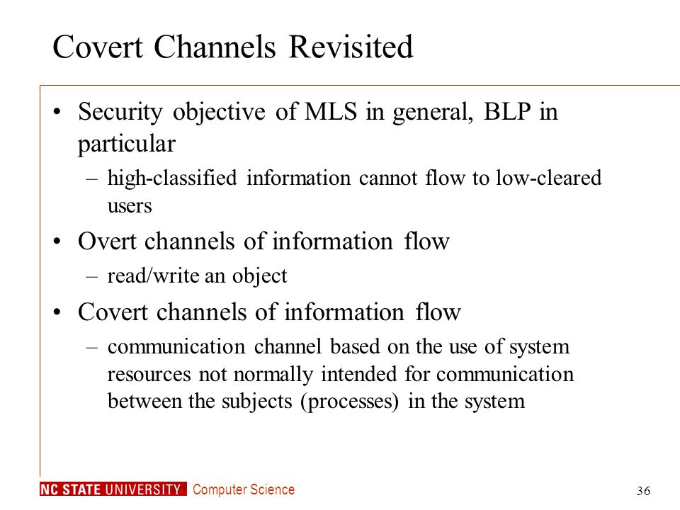 Covert Channels Revisited