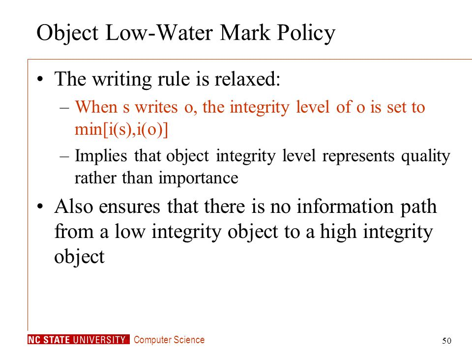 Object Low-Water Mark Policy