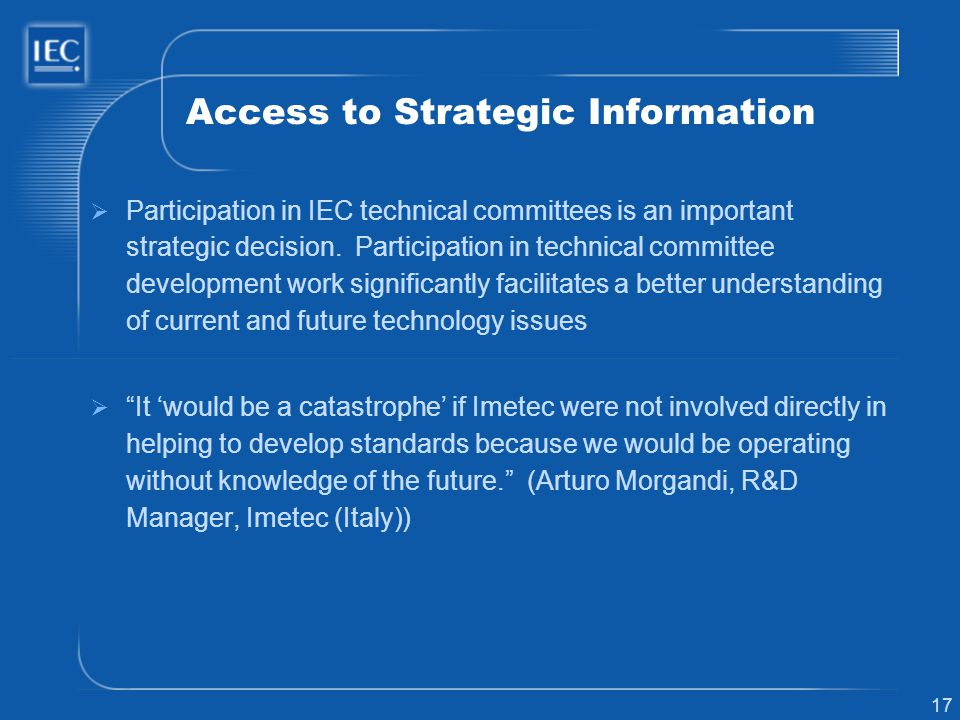 Access to Strategic Information