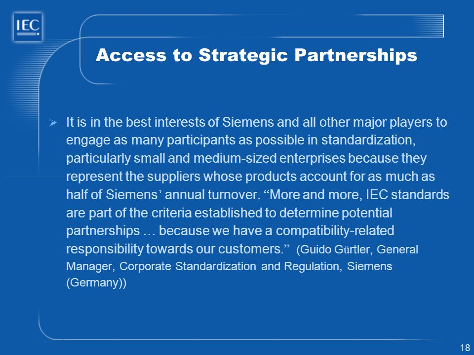 Access to Strategic Partnerships