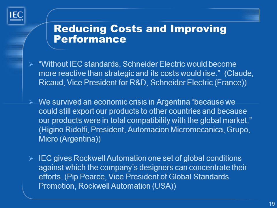 Reducing Costs and Improving Performance